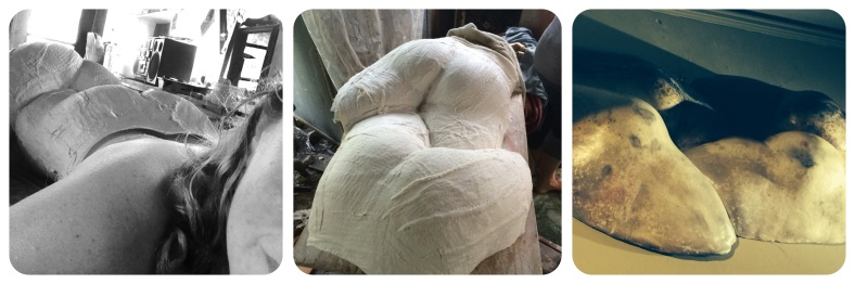 Selfie of Butt Casting, The Mold, Art by Richard Smith, Santa Cruz